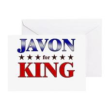 JAVON for king Greeting Card