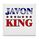 JAVON for king Tile Coaster