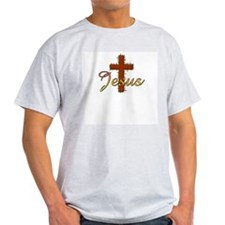 Jesus & Cross for Christians Ash Grey T-Shirt