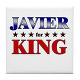 JAVIER for king Tile Coaster
