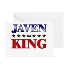 JAVEN for king Greeting Cards (Pk of 20)