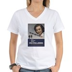 She May look... Women's V-Neck T-Shirt