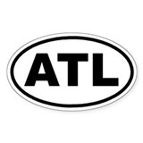 ATL Atlanta, Ga Euro Oval Decal