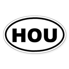 HOU Houston, TX Euro Oval Decal