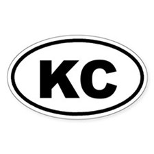 KC Kansas City Euro Oval Decal
