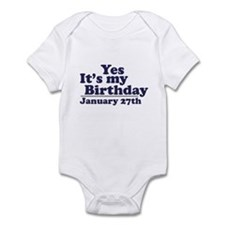 January 27th Birthday Infant Bodysuit