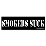 Bumper Sticker: Smokers Suck (type 2)