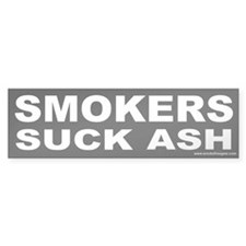 Bumper Sticker: Smokers Suck Ash