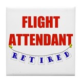 Retired Flight Attendant Tile Coaster