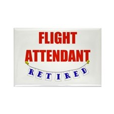 Retired Flight Attendant Rectangle Magnet (10 pack