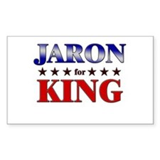 JARON for king Rectangle Decal