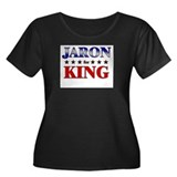 JARON for king Women's Plus Size Scoop Neck Dark T