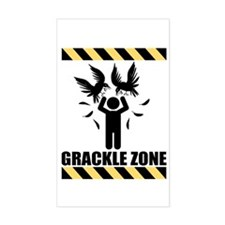 Grackle Zone Warning Rectangle Decal