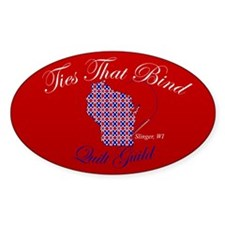 Ties That Bind Quilt Guild Oval Decal