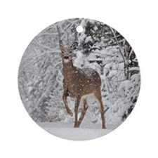 Whitetail Doe Ornament (Round)