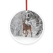 Whitetail Doe Ornament (Round)