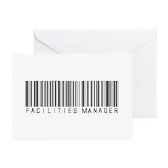 Facilities Mgr Bar Code Greeting Card