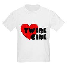 Twirl Girl Heart Kids T-Shirt