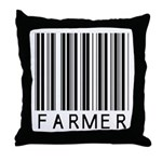 Farmer Barcode Throw Pillow