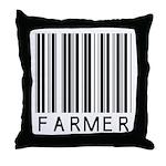 Farmer Barcode Throw Pillow