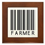 Farmer Barcode Framed Tile