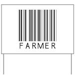Farmer Barcode Yard Sign