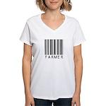 Farmer Barcode Women's V-Neck T-Shirt