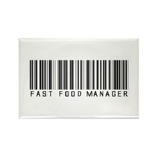 Fast Food Mgr Barcode Rectangle Magnet (10 pack)