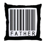 Father Barcode Throw Pillow