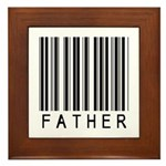 Father Barcode Framed Tile