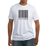 Father Barcode Fitted T-Shirt