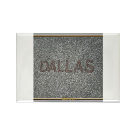 Dallas Rectangle Magnet
