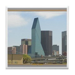 Dallas Skyline #1 Tile Coaster