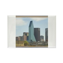 Dallas Skyline #1 Rectangle Magnet