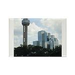 Dallas Skyline #2 Rectangle Magnet