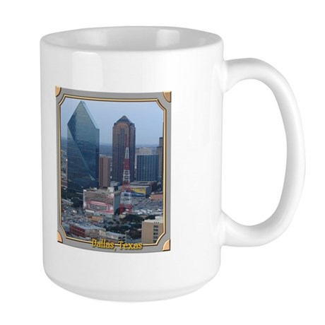 Dallas Skyline #3 Large Mug