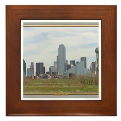Dallas Skyline #4 Framed Tile