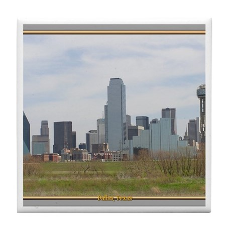 Dallas Skyline #4 Tile Coaster