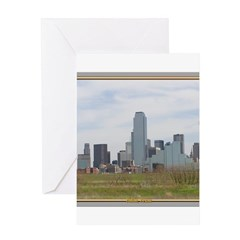 Dallas Skyline #4 Greeting Card