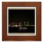 Dallas Skyline #5 Framed Tile
