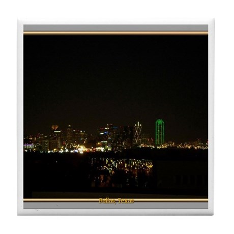 Dallas Skyline #5 Tile Coaster