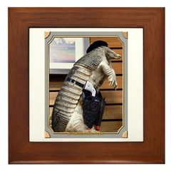 Dallas Armadillo Framed Tile