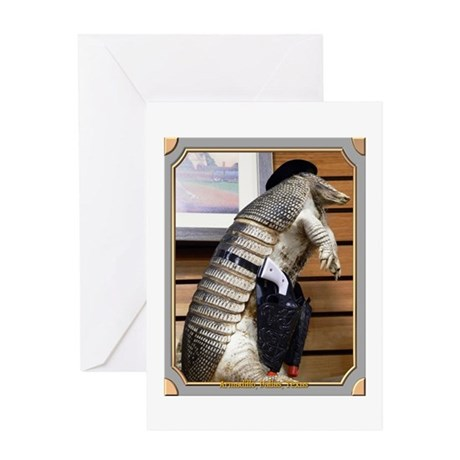 Dallas Armadillo Greeting Card