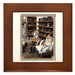 Boot Shop Framed Tile