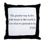 Socrates 4 Throw Pillow
