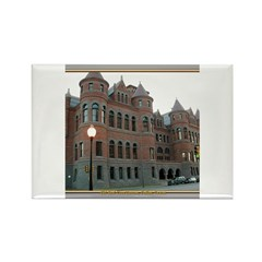 Old Red Courthouse Rectangle Magnet