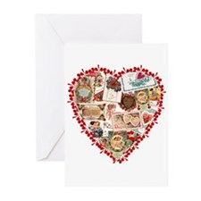 Victorian Valentine's Heart Greeting Cards (Pk of