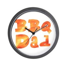 BBQ Dad Barbecue Father's Day Wall Clock