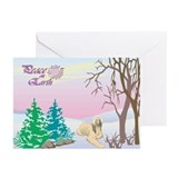 Peace On Earth Afghan Hound Holiday Greeting Cards