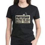 Photoshop - Helping the Ugly Women's Dark T-Shirt